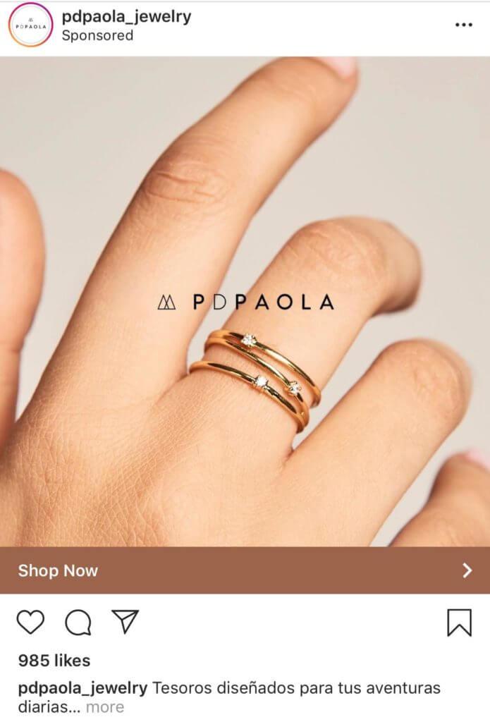 tipos de anuncios en Instagram foto y copy